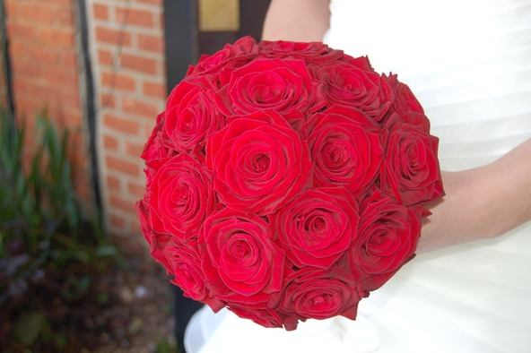 gorgeous red rose wedding bouquet bedford