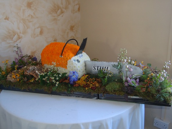 stihl chainsaw funeral flowers bedford