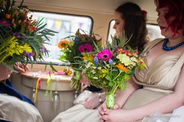 colourful bridesmaid bouquets bedford