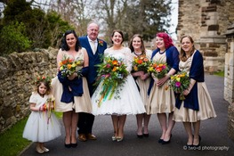 50's style wedding bedford