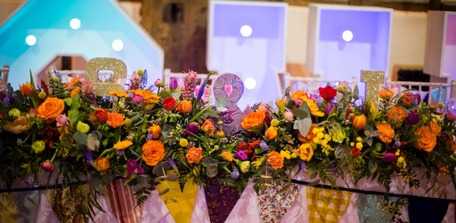 vibrant wedding flowers bedford