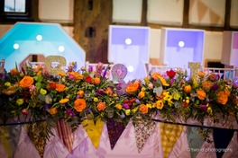 colourful wedding reception bedford