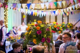 vibrant wedding reception flowers bedford