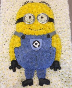 minion funeral flowers bedford