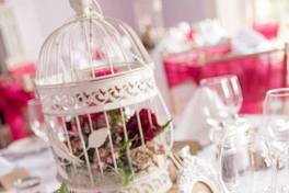 birdcage wedding reception flowers bedford