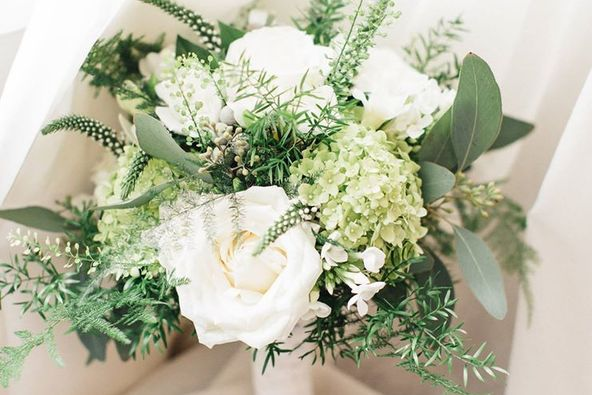natural white wedding bouquet bedford