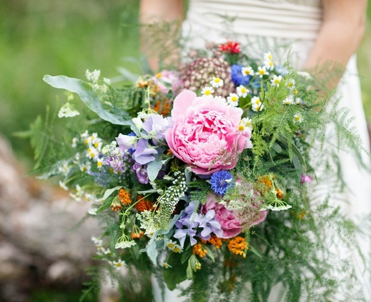 peony wild wedding bouquet bedfordshire