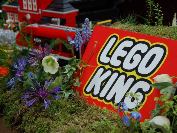 lego king tribute flowers bedford
