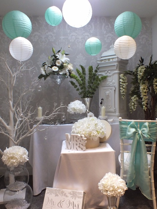 mint and white wedding theme bedford