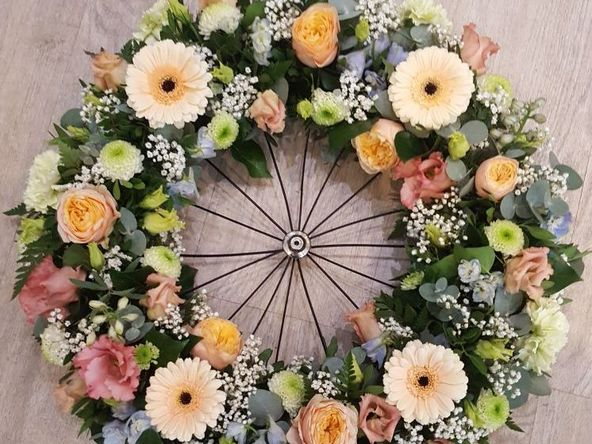 bicycle wheel funeral flowers kempston