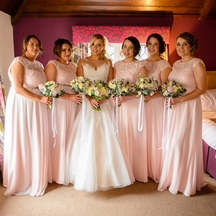 blush pink wedding bridesmaids