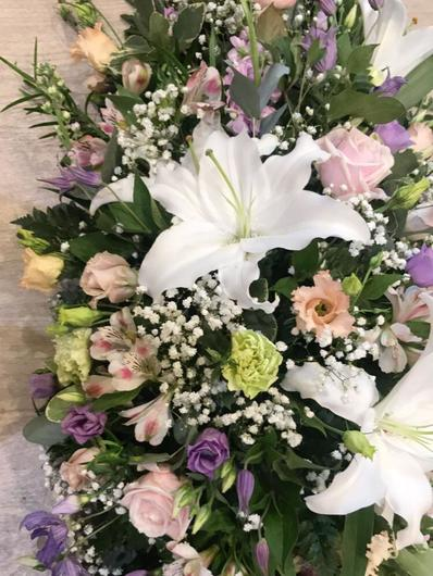 vibrant coloured funeral flowers bedford