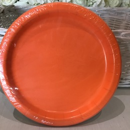 bright orange party plates kempston