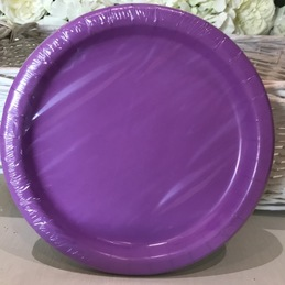 purple party plates bedford