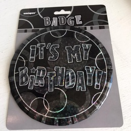 its my birthday badge bedford