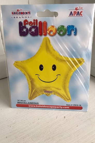smiley face star balloon